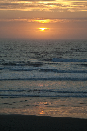 Sunset at South Beach Oregon